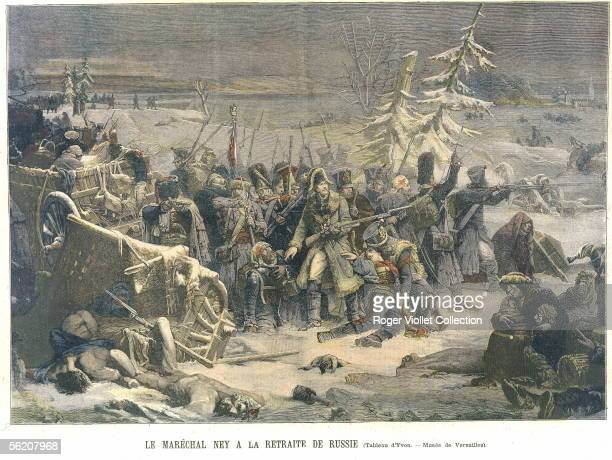 The marshal Ney during the retreat of Russia from a painting of Yvon Le Petit Journal January 1894