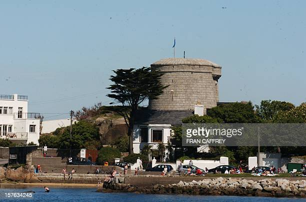 The Martello Tower perched on the edge of the Sandycove coastline and the setting for the first chapter of the epic novel 'Ulysses' is pictured in...