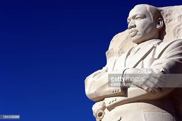 The Martin Luther King Jr sculpture is seen at the MLK Memorial December 1 2011 in Washington DC AFP PHOTO / Karen BLEIER