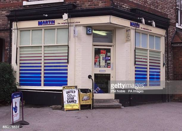 The Martin newsagent in Wilmslow Cheshire where solicitor Sally Clark who was found guilty of murdering her two babies was a regular customer during...
