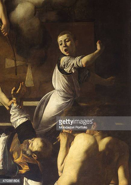 'The Martyrdom of Saint Matthew by Michelangelo Merisi known as Caravaggio 15991600 16th 17th century oil on canvas 323 x 343 cm Italy Lazio Rome...