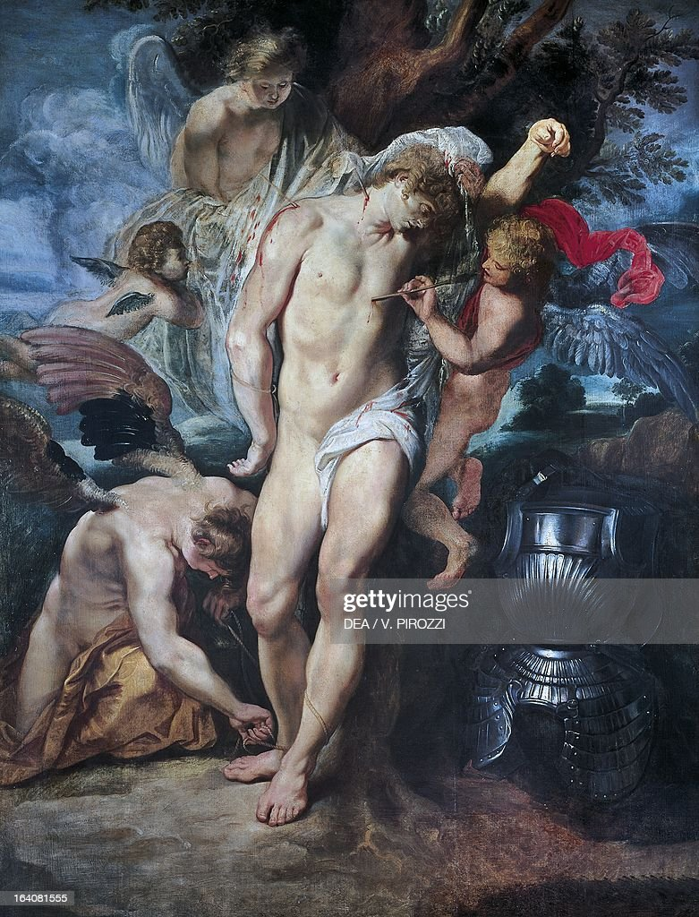 The Martyrdom of St Sebastian, 1601-1602, by Peter Paul Rubens (1577-1640), oil on canvas, 155x119 cm. Rome, Galleria Nazionale D'Arte Antica Di Palazzo Corsini