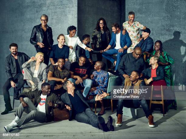 The Marvel Stars of Comic Con 2017 Karl Urban Cate Blanchett Jeff Goldblum Daniel Kaluuya Chadwick Boseman Tom Hiddleston Letitia Wright Director...