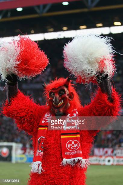 The mascot red devil of Kaiserslautern poses during the Bundesliga match between 1 FC Kaiserslautern and 1 FC Koeln at FritzWalterStadium on February...