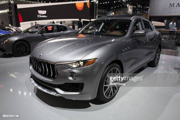 The Maserati SpA Levante vehicle is displayed during AutoMobility LA ahead of the Los Angeles Auto Show in Los Angeles California US on Thursday Nov...