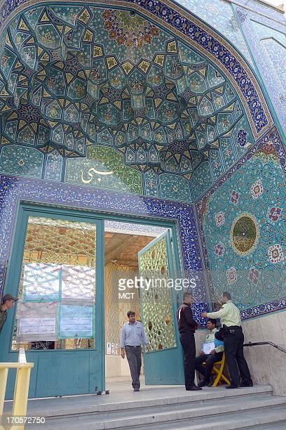 The Masjid u Nabi mosque in central Tehran Iran serves as polling station during the Iranian presidential elections Friday June 14 2013