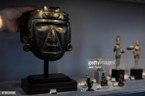 The Mask of a Shaman from Mezcala West Coast of Mexico 700 BC AD 300 on display at 5 Cromwell Place on May 4 2017 in London England British art...