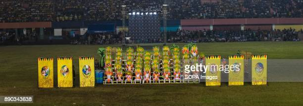 PHILIPPINES MARIKINA NCR PHILIPPINES The mask of Maskara Festival smiled all the way during the dance performanceThe Biggest Annual Philippine...