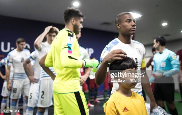 The maskot kid is seen prior to the FIFA U20 World Cup Korea Republic 2017 Quarter Final match between Portugal and Uruguay at Daejeon World Cup...