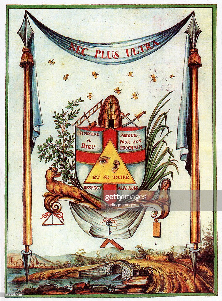 The Masonic Values 18th century From a private collection