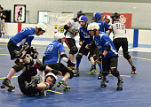 The Mass Maelstrom Roller Derby Team defeated the Jersey Boys Roller Derby Team 244 to 54 in a Boston Derby Dames home game at Simoni Rink on July 11...