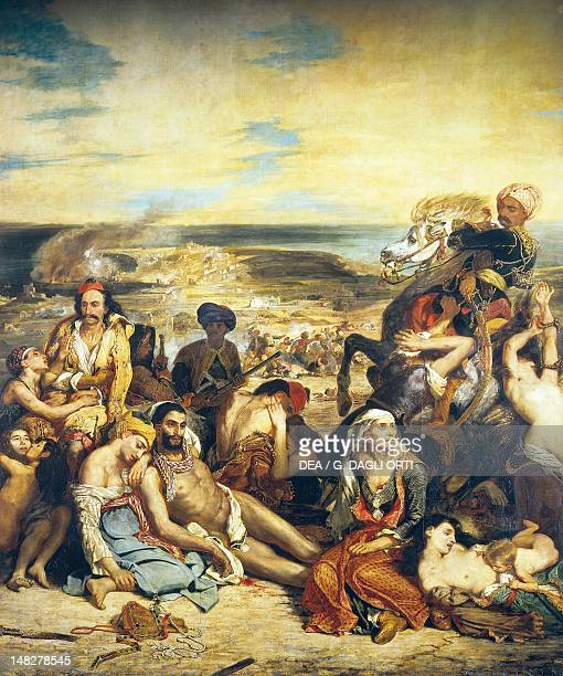 The Massacre at Chios by Eugene Delacroix oil on canvas 422x352 cm Paris Musée Du Louvre