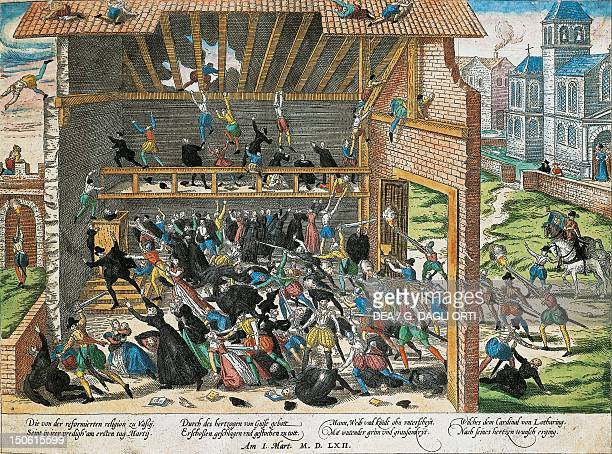 The massacre of Vassy in 1562 Wars of Religion France 16th century