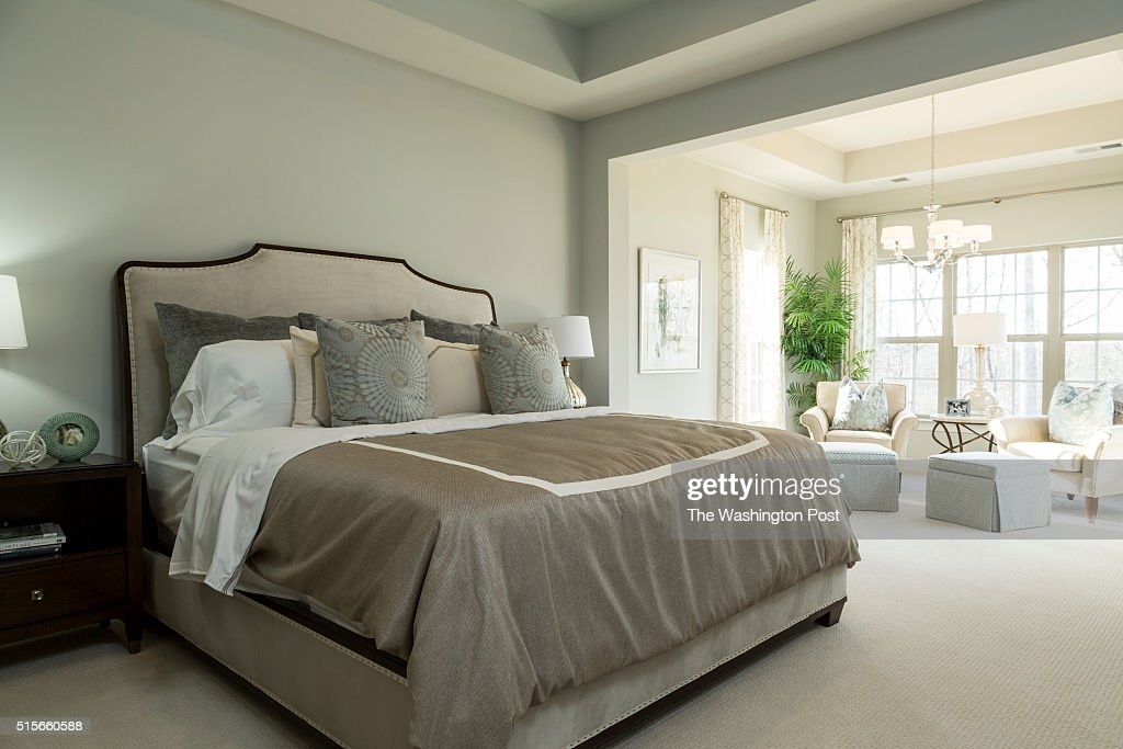 The Master Bedroom in the Lynhurst Model at Hickory Falls on March 1 2016 in Woodbridge Virginia