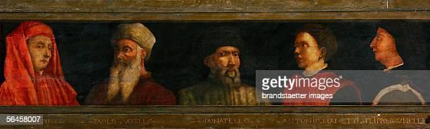 'The Masters of Florentine Art' Giotto P Ucello Donatello A Manetti Brunelleschi Italian School 1450 655 x 213 cm Oil on wood Inv 267 [Meister der...
