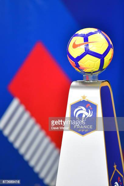 The matchball before the international friendly match between France and Wales at Stade de France on November 10 2017 in Paris France
