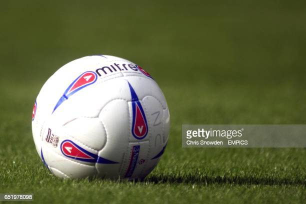 The matchball for the game between Notts County and Peterborough United