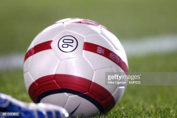 The matchball from the Portugal and England game