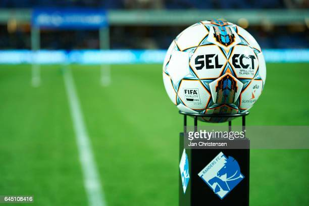 The matchball prior to the Danish Alka Superliga match between Randers FC and FC Midtjylland at BioNutria Park Randers on February 24 2017 in Randers...