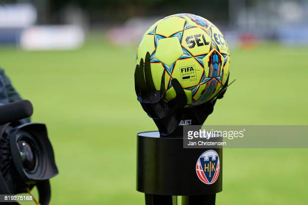 The matchball prior to the Danish Alka Superliga match between Hobro IK and FC Helsingor at DS Arena on July 16 2017 in Hobro Denmark