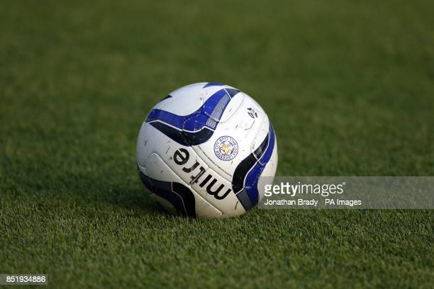 The matchball with the Leicester City FC insignia
