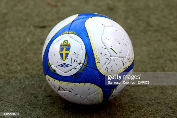The matchball with the Sweden FA logo