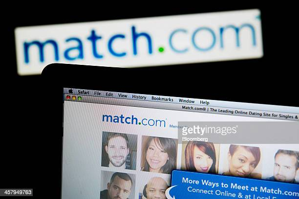 The Matchcom logo and website are displayed on laptop computers arranged for a photograph in Washington DC US on Thursday Dec 19 2013...