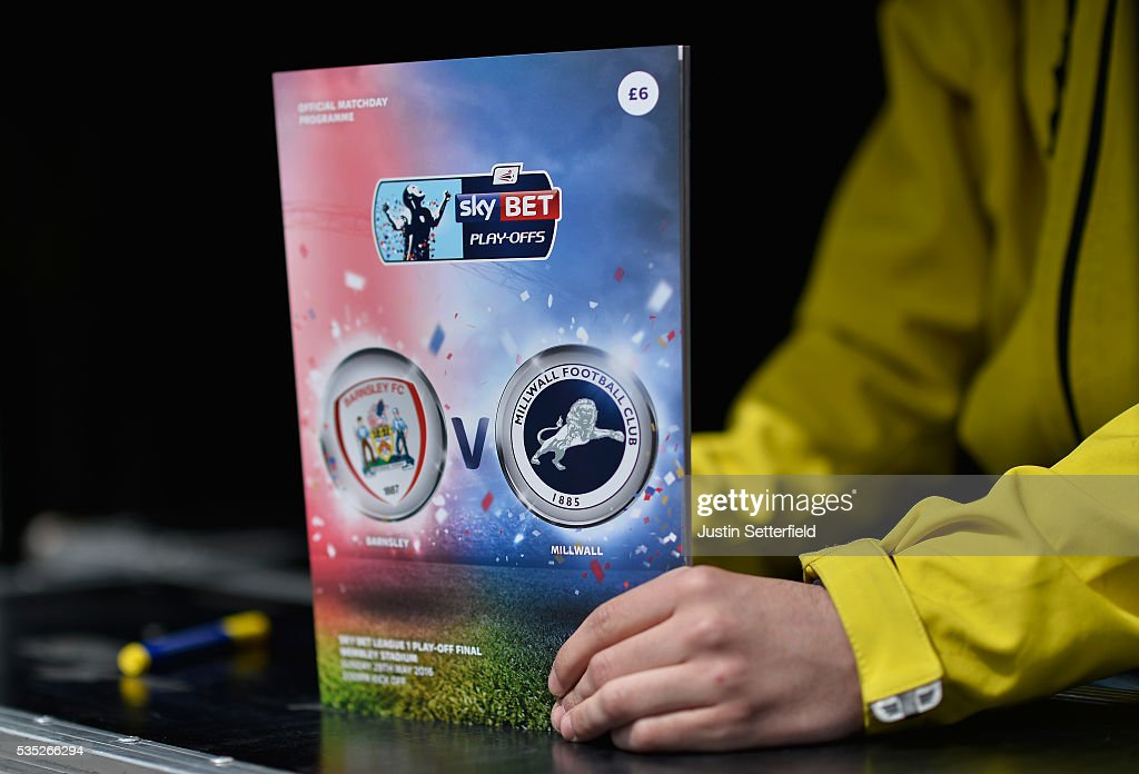 The matchday program ahead of the Sky Bet League One Play Off Final between Barnsley and Millwall at Wembley Stadium on May 29, 2016 in London, England.
