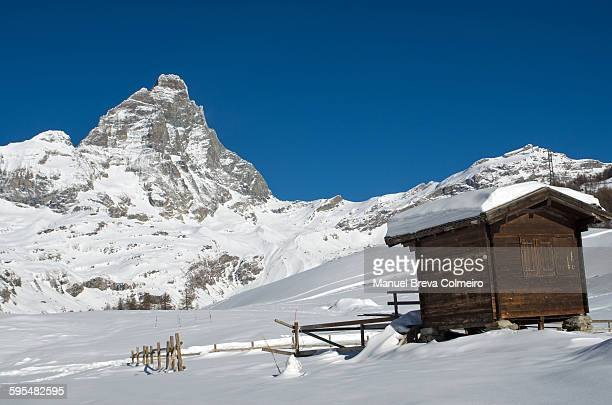 The Matterhorn covered by snow