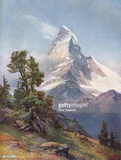 The Matterhorn from Riffelberg 1917 After Edward Theodore Compton Printed with inks supplied by The Jaenecke Printing Ink Co Ltd From The British...