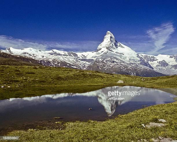 Das Matterhorn sich in Leisee