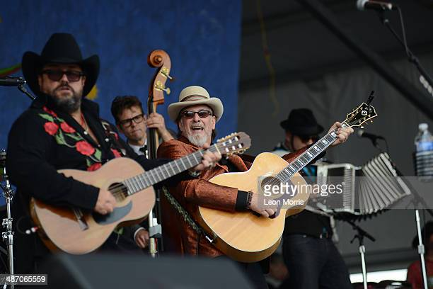 The Mavericks performs on stage at New Orleans Jazz And Heritage Festival on April 26 2014 in New Orleans United States