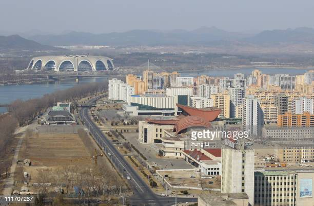 The May Day stadium the biggest stadium in the world accomodating 150000 seated visitors is seen on April 3 2011 in Pyongyang North Korea Pyongyang...