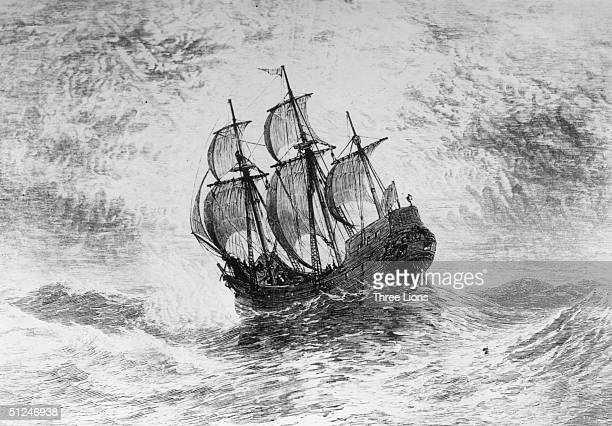 1620 The Mayflower the ship in which the Pilgrims crossed the Atlantic to the New World in 1620