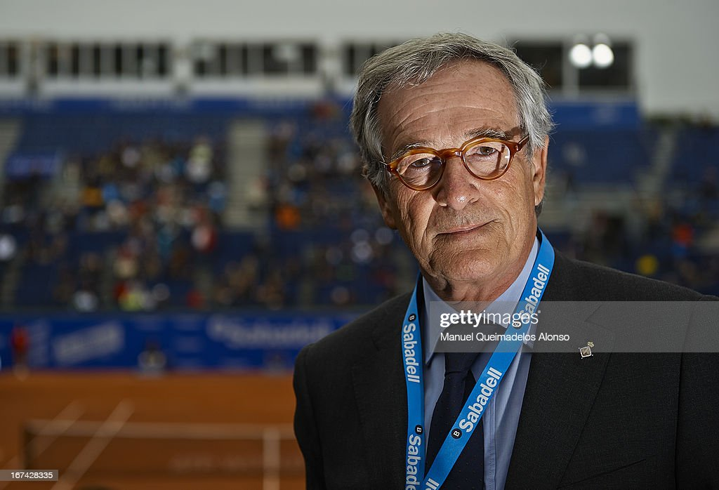 The mayor of Barcelona Xavier Trias poses during the ATP 500 World Tour Barcelona Open Banc Sabadell 2013 tennis tournament at the Real Club de Tenis on April 25, 2013 in Barcelona, Spain.