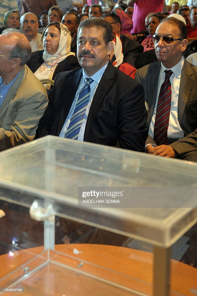 The Mayor of Fez Hamid Chabat, 53, is seen during elections for a new leader of the Istiqlal Party in the Skhirat, on september 23, 2012. More than 900 activists of the Istiqlal, the second main strength of the coalition government led by the Islamist Abdelilah Benkirane, elected a new leader of the party among the oldest of Morocco.