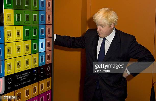 The Mayor Of London Boris Johnson Visits The Royal Institution To Launch Of Mayor'S Story Of London Festival Royal Institution Albermarle Street...