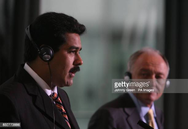 The Mayor of London Ken Livingstone hosts a joint press conference inside London's City Hall with the Venezeulan Minister of the Popular Power for...