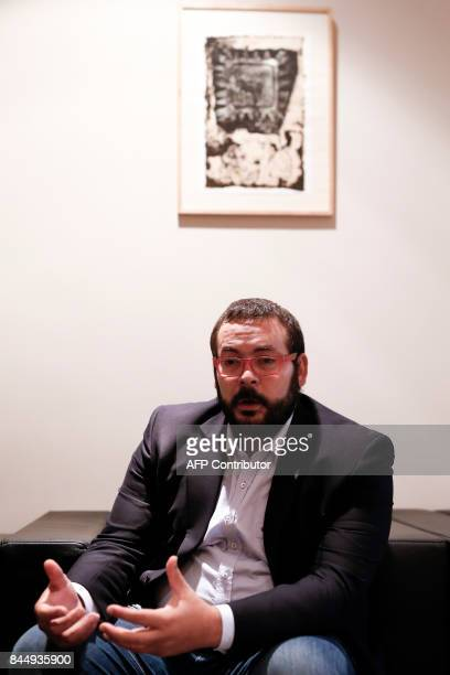 The Mayor of Mataro David Bote Paz speaks during an AFP interview in Mataro near Barcelona on September 8 2017 Spain's top courts heaped fresh...