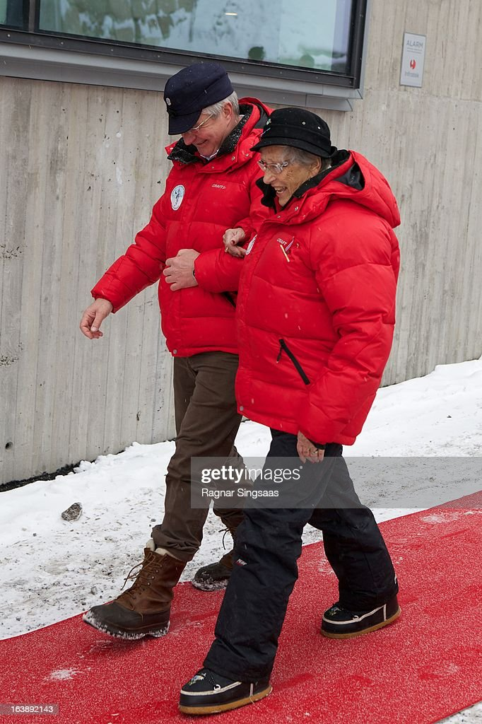 The Mayor of Oslo Fabian Stang and Princess Astrid of Norway attend FIS World Cup Nordic Holmenkollen 2013 on March 17, 2013 in Oslo, Norway.