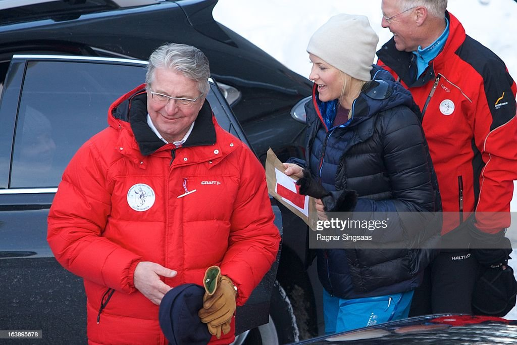 The Mayor of Oslo <a gi-track='captionPersonalityLinkClicked' href=/galleries/search?phrase=Fabian+Stang&family=editorial&specificpeople=4669058 ng-click='$event.stopPropagation()'>Fabian Stang</a> and Princess Mette-Marit of Norway attend FIS World Cup Nordic Holmenkollen 2013 on March 17, 2013 in Oslo, Norway.
