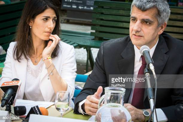 The Mayor of Rome Virginia Raggi and Adriano Meloni inaugurates the new Refreshment Point of Fori Imperiali Tourist information Point and present the...
