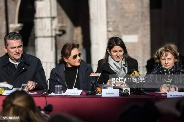 The Mayor of Rome Virginia Raggi and President of the Jewish Community of Rome Ruth Dureghello the Councillor for Environmental Sustainability...