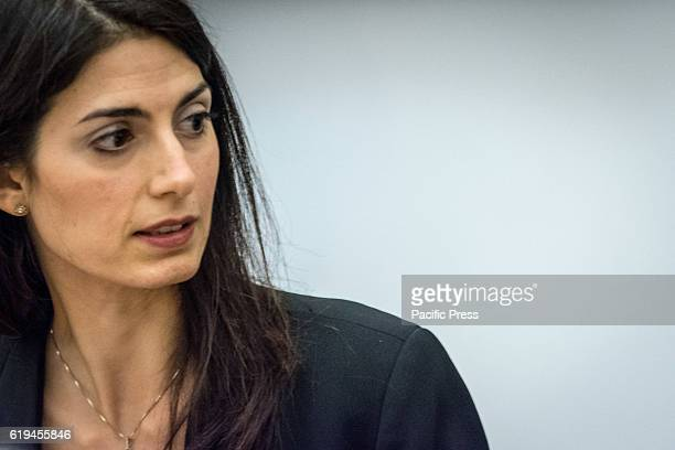 The mayor of Rome Virginia Raggi during 'Journey of Remembrance' press conference at Auschwutz and Birkenau