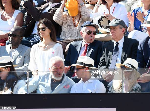 The mayor of Rome Virginia Raggi during the ATP Tennis Open final match between Alexander Zverev v Novak Djokovic on May 21 at the Foro Italico in...