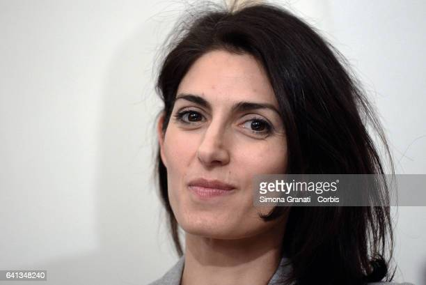 ROME ITALY FEBRUARY The mayor of Rome Virginia Raggi during the presentation of the site that gathers the results achieved by the municipalities...
