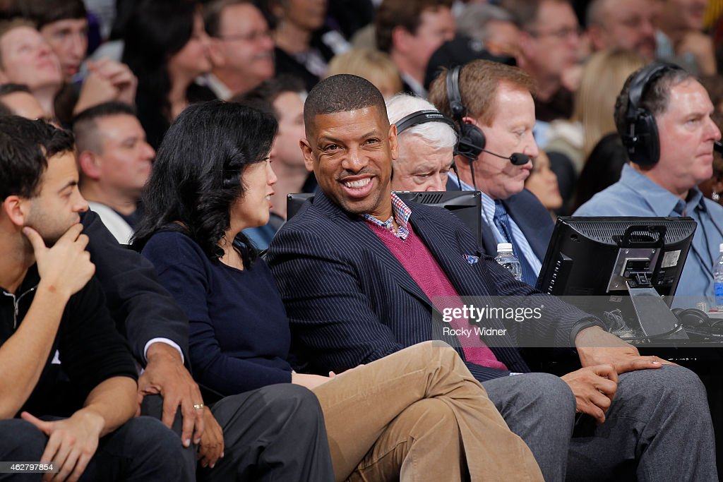 The mayor of Sacramento Kevin Johnson attends the game between the Golden State Warriors and Sacramento Kings on February 3 2015 at Sleep Train Arena...