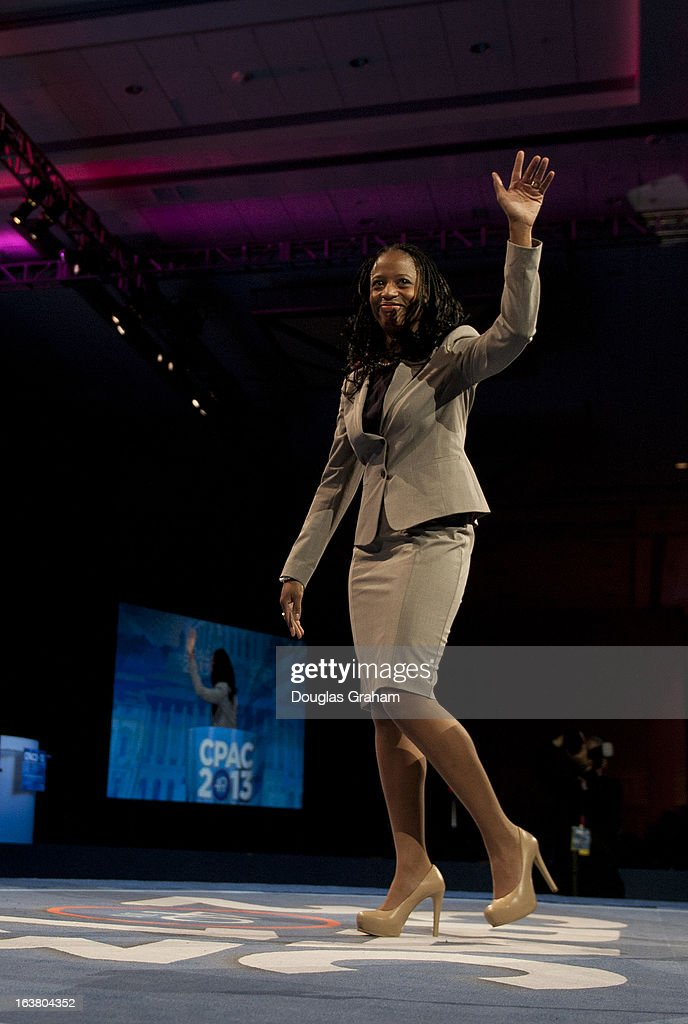 The Mayor of Saratoga Springs, Utah, Mia Love during the 2013 Conservative Political Action Conference at the Gaylord National Resort & Conference Center at National Harbor, Md., on Saturday, March 16, 2013.