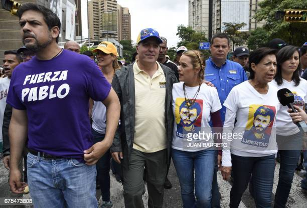 The mayor of the municipality of Sucre Carlos Ocariz the president of the National Assembly Julio Borges the wife of imprisoned opposition leader...