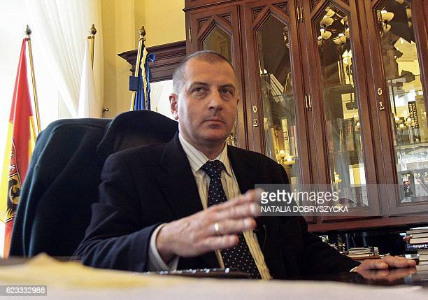 The mayor of the southwestern Polish city of Wroclaw Rafal Dutkiewicz poses in his office 12 October 2007 The booming city has become a symbol for...